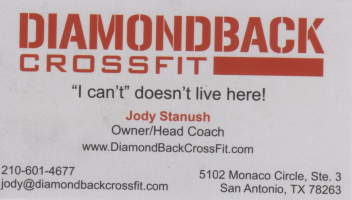 DiamodBackCrossfit Logo